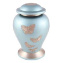 Butterflies - Blue Metallic Urn