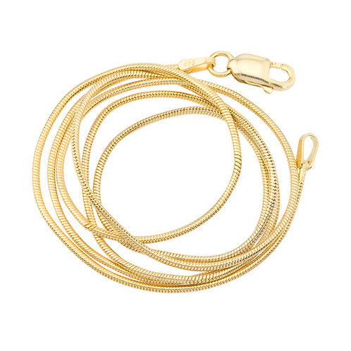 QUALITY- 14ct Gold Plated Snake Chain 60cm