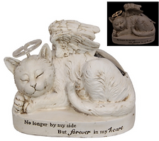 MEMORIAL CAT PLAQUE WITH HALO 23CM.PNG
