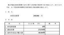 平成29年度 政務活動費収支報告