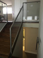 Residential Glass and Stainless Steel Railings