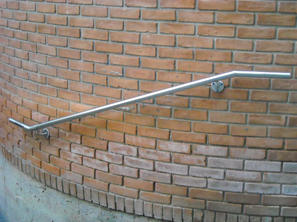 Wall-Mounted Stainless Steel Handrail