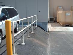 Commercial Loading Bay Steel Guardrail