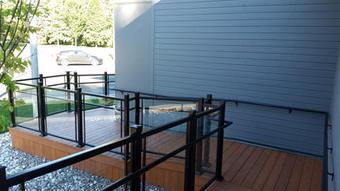 Commercial Glass Aluminum Handrails