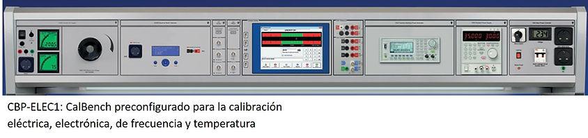 Panel de Calibración Electrónica, temperatura y frecuencia
