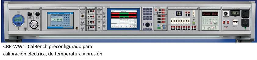Calbench, Calibración temperatura y Electricidad