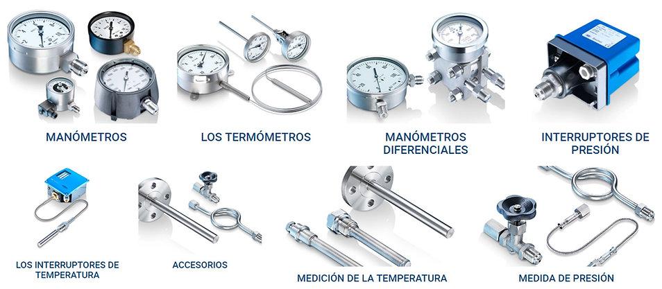 Manometros, termometros, transmisor presion, temperatura