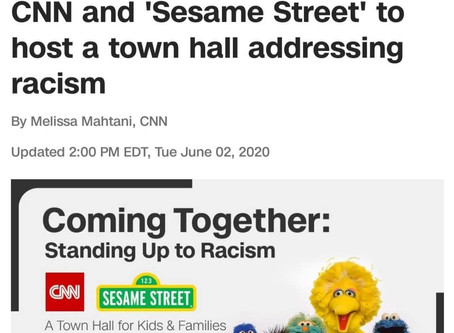 This Saturday, CNN & Sesame Street: Town Hall on Racism, 9:00 a.m.