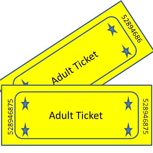 Adult (Age 12+) Ticket - Includes 2 Basket Raffle Tickets