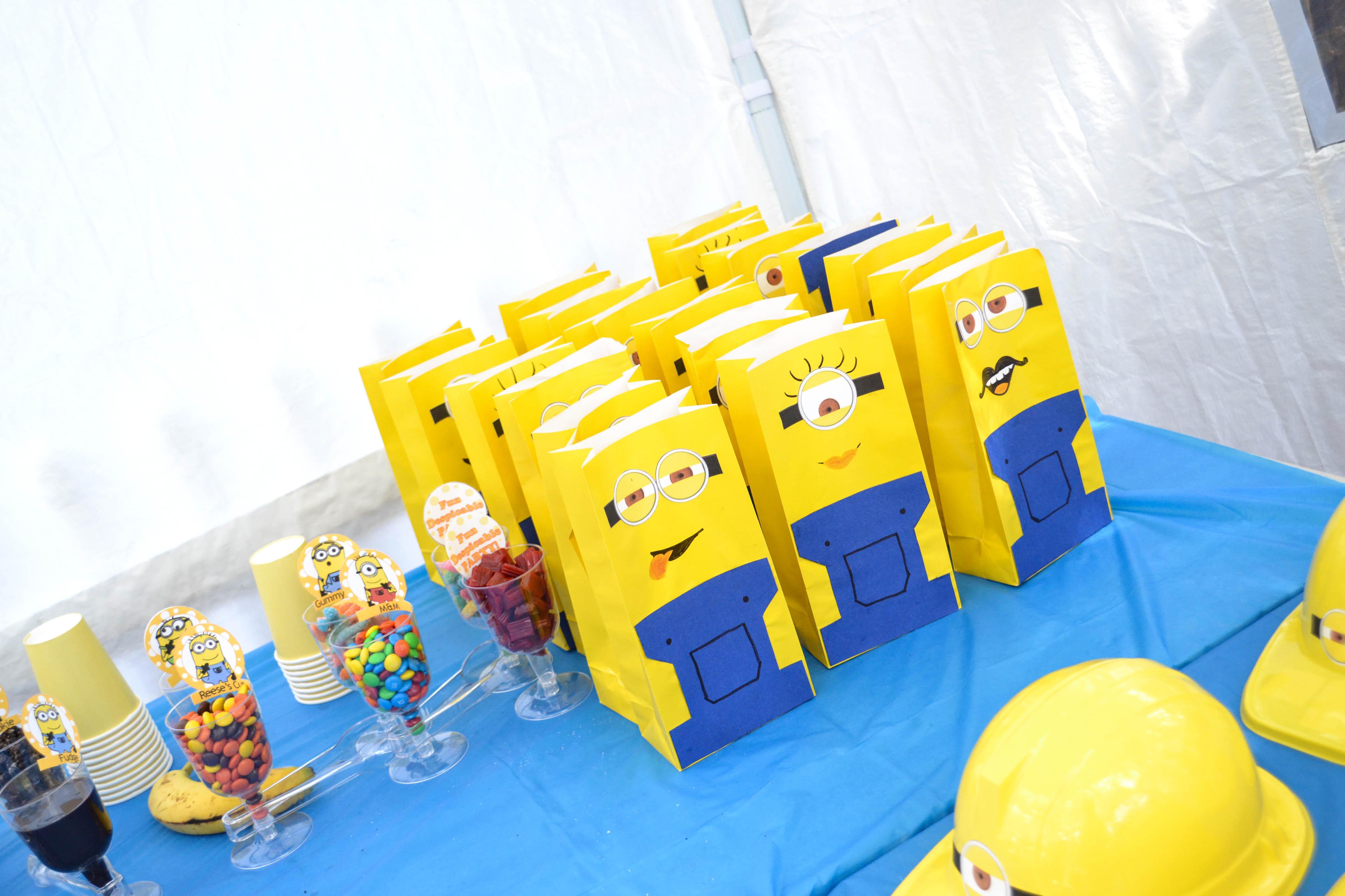 Handmade minions on bags