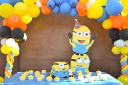 Cake, Life size Minion, Balloon Brid