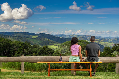 casal, paisagem, Pousada Das Berghaus 21