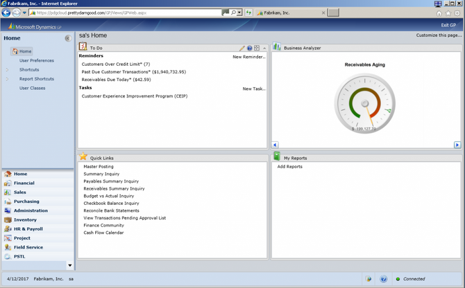Dynamics GP 2013 R2 in the Cloud!