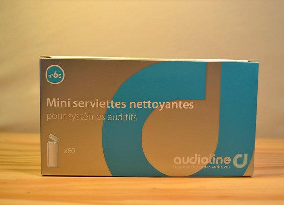 Mini serviettes nettoyantes - X60 - N°6s - Audioline