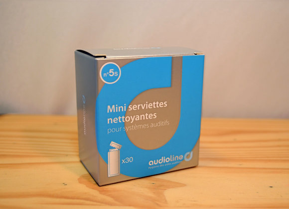 Mini serviettes nettoyantes - X30 - N°5s - Audioline
