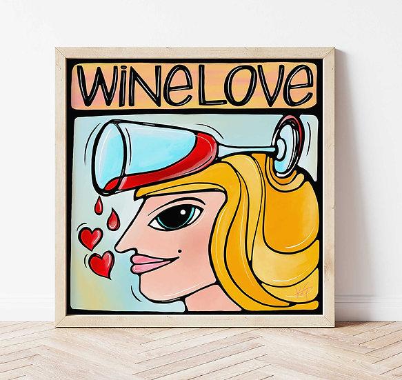 Wine Women Art Print. Colorful Whimsical Female Signed Print