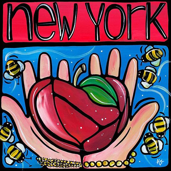 New York Art Print; New York NY, Big apple
