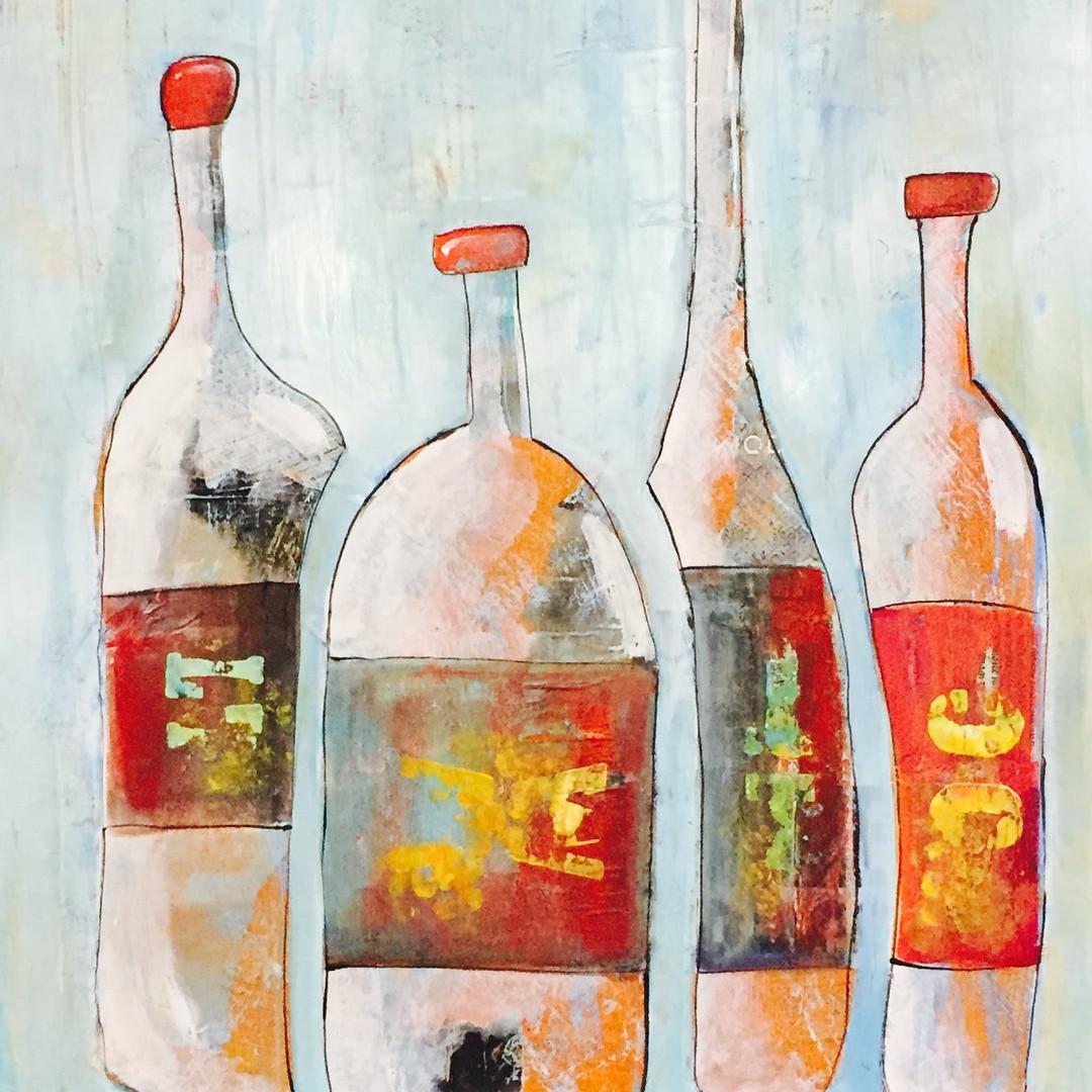 bottle collage art