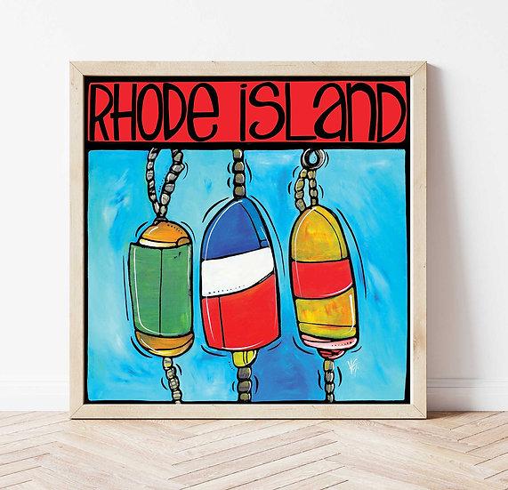 RHODE ISLAND Art Print: Buoys by Artist Veronique Godbout