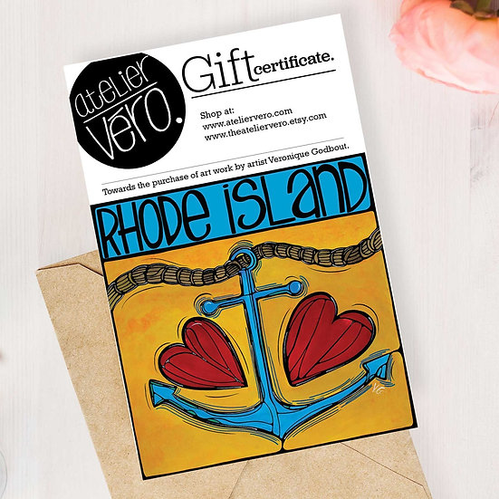 Gift Certificate, Any Amount, Voucher, Gift Card, Print, Digital Gift