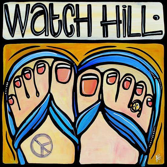 RHODE ISLAND Art: Watch Hill, Westerly Art by Artist Veronique Godbout, Original