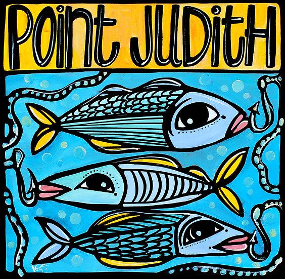 RHODE ISLAND Art Print: Point Judith, Fish Art by Artist Veronique Godbout