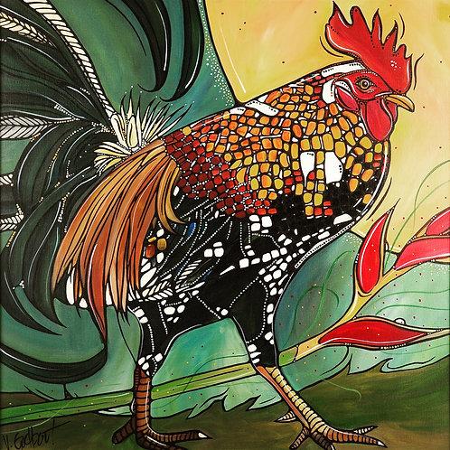 Waimanalo Rooster - Fine Art Print