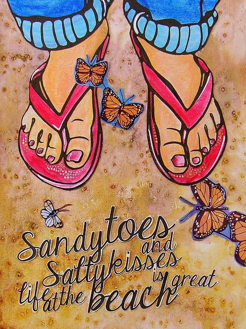Blush a Little on my Sandals - Fine Art Print