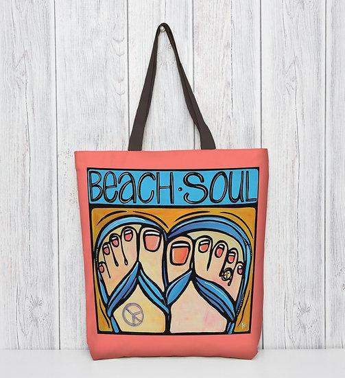 Beach Tote Bag | Fun Coastal Accessories | Flip Flop Bag | Large Shoulder Tote.