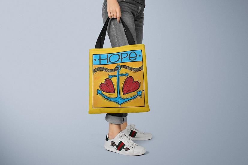 Anchor Hope Tote Bag | Coastal Accessories | Nautical Bag | Floral Gift /