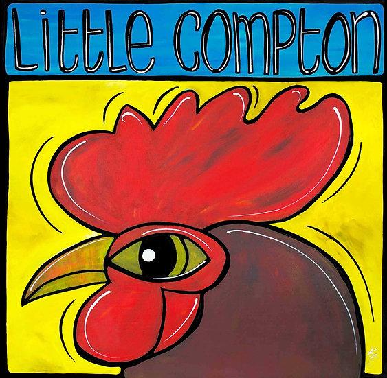 RHODE ISLAND Art: Red Chicken by Artist Veronique Godbout, Little Compton