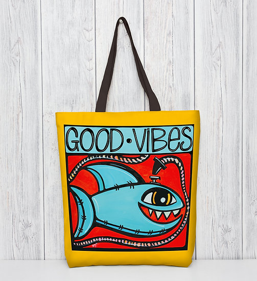 Fun Shark Tote Bag - Beach Bag with Colorful Coastal Vibe, Bag for Kids.