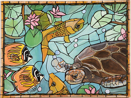 """Turtle World Sails"" - 24 x 18"" - Original Painting on Canvas"