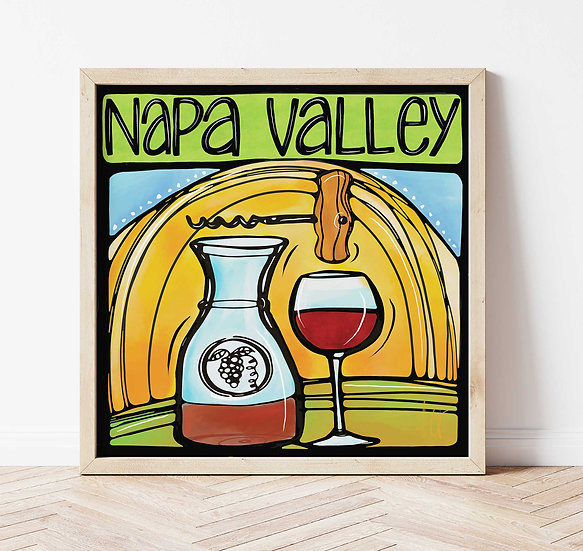 Napa Valley Art Print. California Wine Country Signed Print.