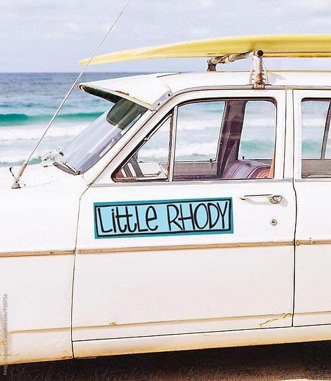 RHODE ISLAND Bumper Sticker, Little Rhody, RI Vinyl Decal, Camping Car Sticker