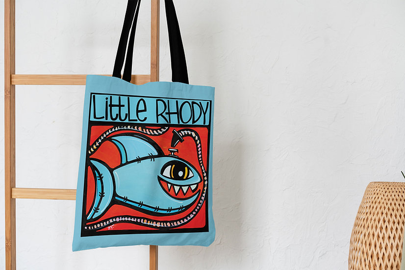 Shark Tote Bag | Rhode Island Beach Accessories | Fun Shark Lover Bag |