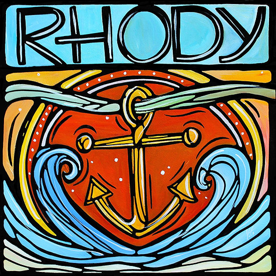 RHODE ISLAND Original Art : Rhody by Artist V. Godbout, Nautical Art.