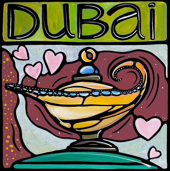 United Arab Emirates Art Print; Dubai UAE, Magic Lantern.