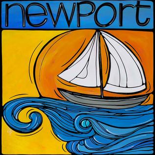 Newport, Anchored at sunset.