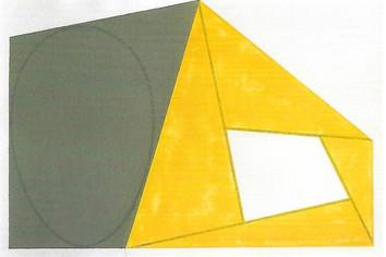 Gray Ellipse/Yellow Frame