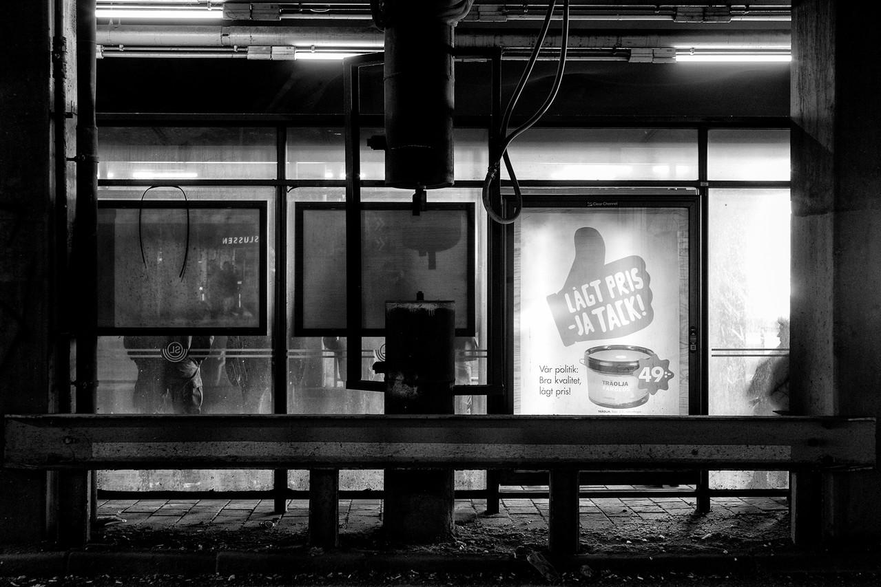 Bus stop at Slussen