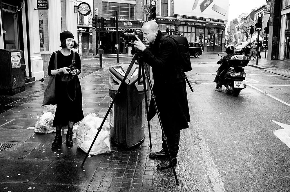 Swedish photographer based i London on a shoot for a Japanese magazine (December 2015)