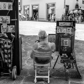 Street Shooting in Tuscany