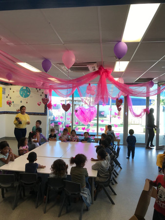 Children learning at tables at our Otahuhu Childcare Center - Eduplay