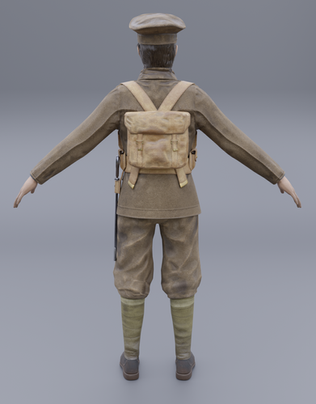 Early 20th Century British Soldier Character