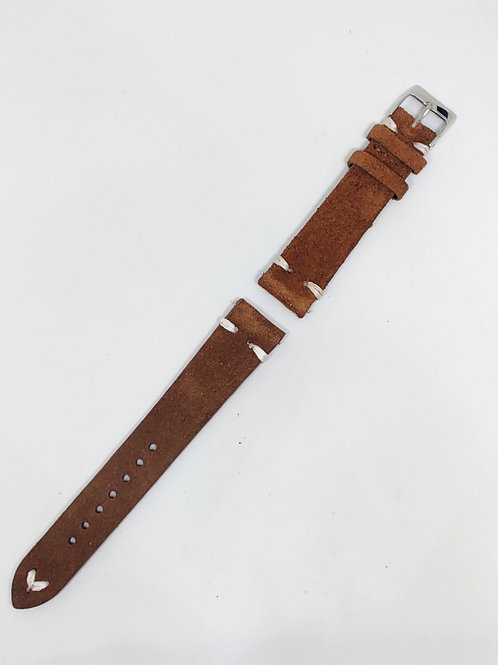 Suede Leather Strap Brown