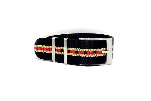 Seat Belt NATO Black-Sand-Red