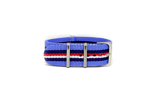 NATO Strap Sky Blue - Dark Blue - Red - White