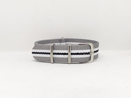 NATO Strap Grey-White-Black