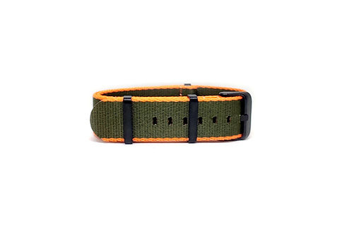 Seat Belt NATO Olive Green - Orange